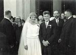 Tadeusz Wiśniewski at His Wedding to Wife Mira (Nee Sidorowicz)