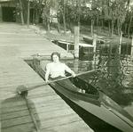 Zofia Wiśniewska in a Kayak