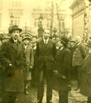 Polish Consul General in Berlin, Wacław Gawroński with Consulate Staff and German Jews Seeking Asylum in Front of Consulate