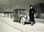 Zofia Krzyżanowska Next to Szkoda Automobile