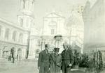 Marian Popieluch with Zofia and Captain Włodzimierz Drzewieniecki