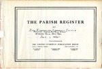 Congregational Record; variety of documents; 1953-1999